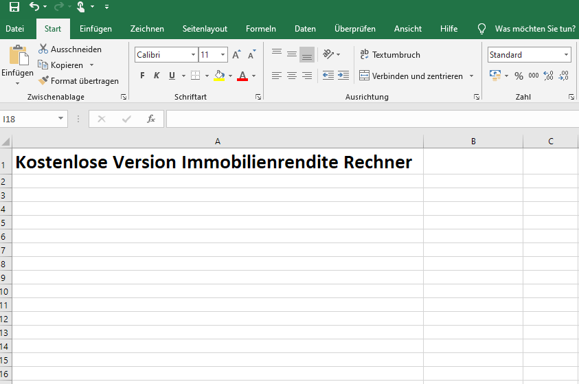 Screenshot Excel