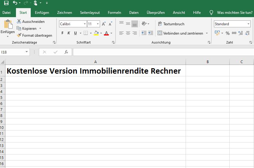 Screenshot Excel
