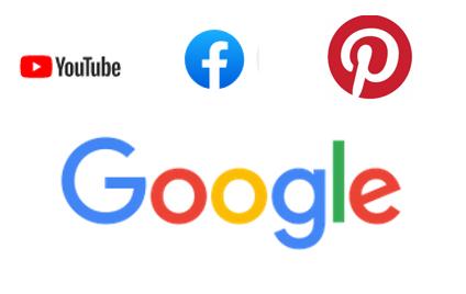Logos der großen Social Media Anbieter